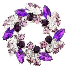 Amethyst Wreath Pin Brooch And Pendant(Chain Not Included) Fantasyard. $16.99. Exquisitely detailed designer style. Gift box available for an additional fee. Please check out through gift-wrap option. Other color available. Save 15%!