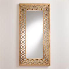 Natural Geometric Wood Malika Mirror | World Market