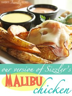 This is just like the Malibu Chicken at Sizzler....except our recipe is 10x better! You have to try the mustard dipping sauce.