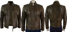 For Our Valued Customers. Top Leather Factory Present's. Stylish Short Zipped Military Army Style Brown Real Leather Jacket for Men. This leather jacket is a military army design with small buckles on the shoulders. There are two big Pockets on the chest with buttons closure. The jacket is made of genuine leatherAvailable at Our Online Store With Halloween Offer Price.  #fashion #boysfashion #boyscollection #menfashion #lovers #fans #sexy #stylish #costume #amazing  #shopping #parties…