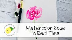 Watercolor Rose in Real Time - Meryl Birchill Watercolor Flowers Tutorial, Watercolor Video, Watercolor Rose, Flower Tutorial, Watercolour Painting, Video Rosa, Collage, Hand Lettering, Art Projects