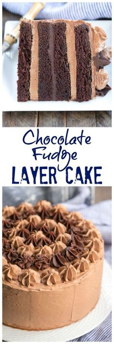 Chocolate Fudge Layer Cake – 6 layers of pure chocolate deliciousness! Cupcake Recipes, Baking Recipes, Dessert Recipes, Fondant Recipes, Fondant Tips, Fudge Recipes, Frosting Recipes, Candy Recipes, Chocolate Fudge