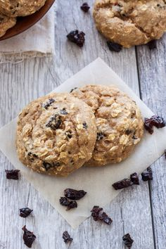 100% whole wheat breakfast cookies sweetened only with maple syrup and prunes. The perfect healthy breakfast or snack!