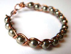 Pyrite Woven Bracelet
