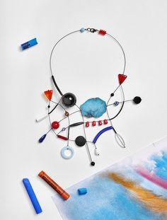 #loranikolova #bijoux&art #necklace #colors #art #madeinitaly #abstract #style Urban Jewelry, Jewelry Art, Jewelry Necklaces, Jewelry Design, Fashion Jewelry, News Fashion, Precious Metal Clay, Fantasy Jewelry, Ceramic Jewelry