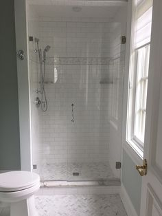Bon Frameless Shower Enclosure: Door + Panel + Return Panel With Privacy Toilet  Room Door   Furnished U0026 Installed By Rex Glau2026 | Frameless Shower Enclosures  ...