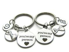 2 You're My Person Compass Hand Stamped by CharminTreasureChest