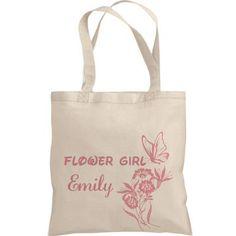 Customised Flower Girl Tote Bag
