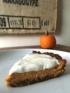 Pumpkin cheesecake recipe from Olly and the Bee.