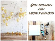 """Sujeta con peso """"globos"""" y con papel blanco de fondo puedes transformar un cuarto."""