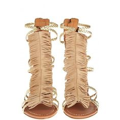 VISCONTI & DU REAU Cuba Gladiator Sandal (26.190 RUB) ❤ liked on Polyvore featuring shoes, sandals, metallic shoes, boho sandals, leopard sandals, summer sandals and bohemian sandals