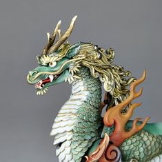 KT Project [Takeya Freely Figure] Qilin Color Edition (Completed) Other picture 7 Dragon Statue, Dragon Art, Cosplay Steampunk, Ceramic Sculpture Figurative, Complete Image, Crystal Dragon, Crazy Toys, Japanese Mask, Chinese Mythology