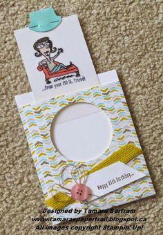 "Tamara's Paper Trail: ""Just Kidding"" Magic Slider Card"