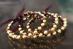 Beaded bangles, easy and impressive.