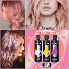 **TONS OF IDEAS**Get the perfect rose gold hair using Arctic Fox hair. www.RainbowHeadPH.com 4oz bottle ...