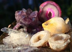 AMETHYST-AGATE-OCOS-CITRINE-Point-Clear-QUARTZ-LUXURY-CRYSTAL-COLLECTION-434GMS