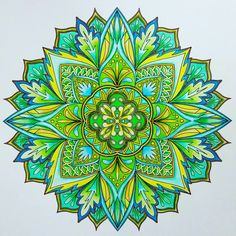ColorIt Mandalas to Color Volume 1 Colorist: Marla Theodoro #adultcoloring…