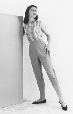 1950s capri pant summer fashion inspiration. #vintage #1950s