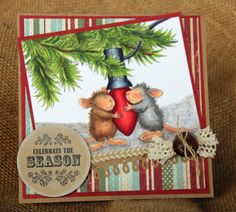 Fun card using House Mouse Designs.  Classes throughout So California with Jennie Black (December 2013)