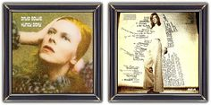 ♫ David Bowie - Hunky Dory (1971) - Art & Design: George Underwood (design) Brian ward (front/back)  - http://www.selected4u.net/caa/davidbowie/hunkydory/play.html