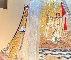 Le Christ et l'épouse, prototypes de l'humanité.  Paroisse de Marie Immaculée, Modugno (BA) – Italie, 2007. © Aimable concession du P. Marko Rupnik, Centro Aletti, Rome.