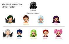 Sailor Moon: Black Moon Clan by SilkmousetheNeko
