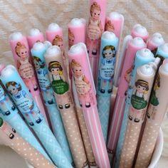 The Kawaii Notebook- ink pens