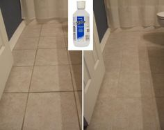 To clean grout : baking soda and hydrogen peroxide paste. let sit about 30 mins - Can't wait to try this..
