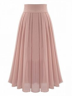Shop Pink High Waist Overlay Chiffon Skirt from choies.com .Free shipping Worldwide.$27.99