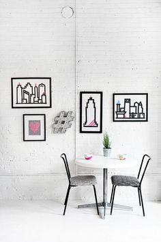 WORKSPACE | Washi Skyline Wall Art | I SPY DIY