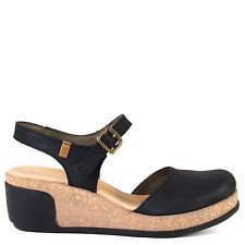 El Naturalista Love N5001 Platform Heel Sandal in Black Leather