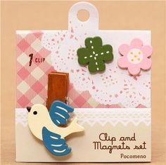 Decole bird clip and magnet set