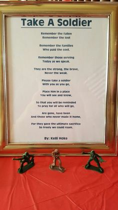 Take a toy soldier for memorial day at church. Take a toy soldier for memorial day at church. Military Party, Army Party, Military Life, Vinyl Decor, Color Draw, Veterans Day Activities, Remembrance Day Activities, Senior Activities, Veterans Day Quotes