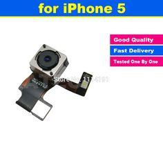 8.0 mp de alta calidad original para iphone 5 5g volver trasero Leva de la cámara Lente Con Flash Flex Ribbon Cable de Reparación de Piezas de Repuesto