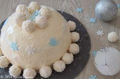"""Karine Cuisine: La bûche """"boule de neige"""" au gianduja et à la noix..."""