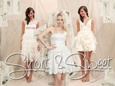 Short and sweet wedding dress styles from Ivy and Aster