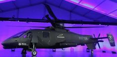 The new Sikorsky Aircraft S-97 RAIDER helicopter, is seen during its unveiling ceremony at Sikorsky Aircraft in Jupiter, Florida, on Oct. 2, 2014.