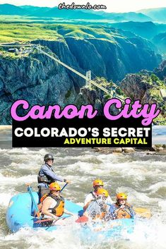 What to do in Canon City, Colorado, adventures to have at Royal Gorge Bridge and Park from riding the gondola, skycoaster and via ferrata across America's highest suspension bridge to the epic railroad train journey and whitewater rafting the gorge a great road trip or weekend getaway from Colorado Springs or Denver for outdoor adventures, dinosaurs, ziplines, glamping and camping at the cabins, and photography spots aplenty for Colorado pictures. #royalgorge #colorado #roadtrip Snowshoe, Visit Colorado, Colorado Trip, Denver Colorado, Canon City Colorado, Royal Gorge, Whitewater Rafting, Train Journey, United States Travel