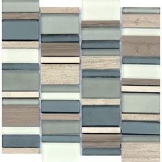 MS International Paradise Bay 12 in. x 12 in. x 8 mm Glass and Stone Metal Mesh-Mounted Mosaic Tile