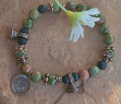 Balance and feel good with this genuine Unakite by CrystalMeB