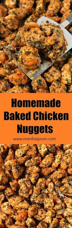Kids and adults will both love this delicious and healthier Homemade Chicken Nuggets.  Regular and gluten-free options here, too. Both are equally yummy! | manilaspoon.com