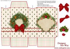 A pretty Christmas gift bag which is very easy to make & is perfect for holding gift cards & vouchers, jewellery, sweets or any small gifts. Would make a lovely table decoration with a surprise inside. Includes gift bag, a few decoupage layers & instructions, all on one sheet.