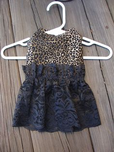 Leopard Print Black Lace Design Extra Small Dog Dress by dables, $20.00