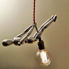 Wrecking Ball Novelty Pendant Lamp Unique by ContemporaryRust
