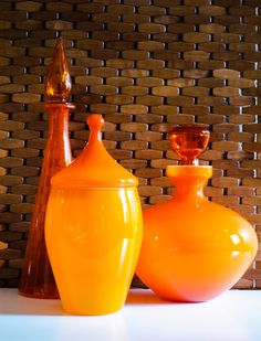 Orange, from my collection of Empoli glass.