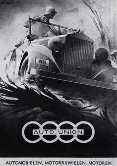 Auto Union Graphic by Bernd Reuters Vintage Advertisements, Vintage Ads, Vintage Posters, Ww2 Propaganda Posters, Auto Union, German Soldiers Ww2, Bmw Autos, Retro Poster, Kunst Poster