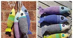 Crochet Fish Patterns, Granny Square Crochet Pattern, Crochet Patterns For Beginners, Crochet Ideas, Crochet Dolls, Crochet Yarn, Free Crochet, Crotchet, Baby Crafts