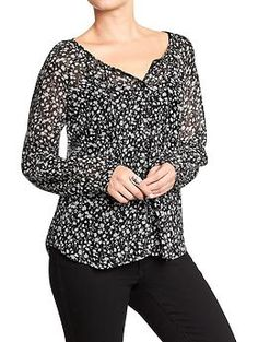 Women's Patterned Chiffon Tops | Old Navy