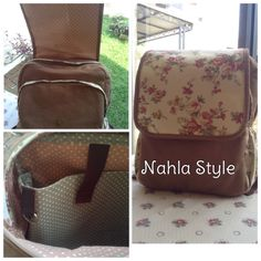 Netbook backpack~Flower Series   Made by Linen and Canvas  Instagram: @nahla_style