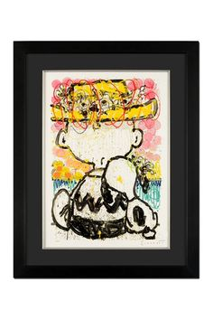 """Mon Ami"" Custom Framed, Hand Signed Original Lithograph on Paper - 35"" x 44.5"" by Peanuts by Everhart on @HauteLook"